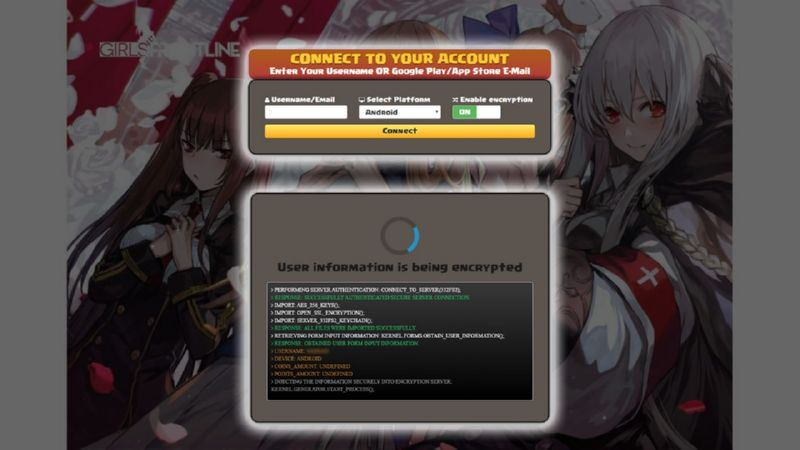 Girls Frontline hack gems