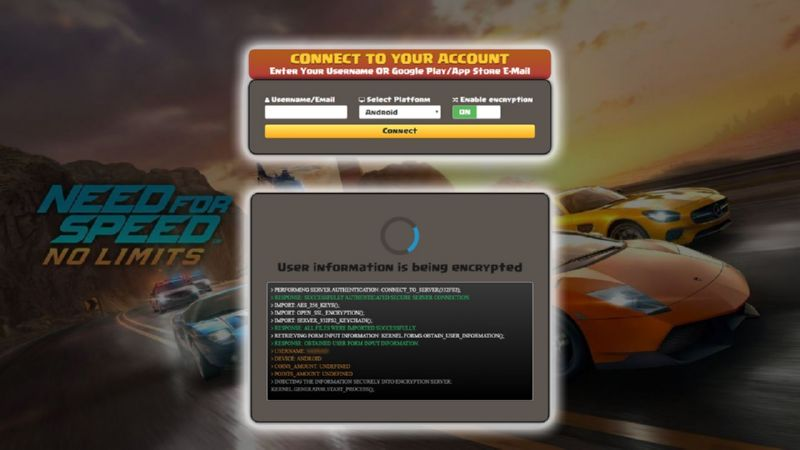 Need For Speed No Limits hack gold