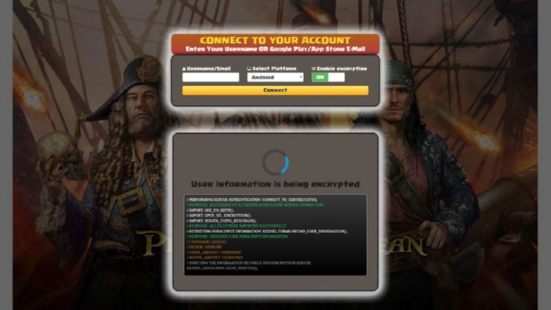 Pirates Of The Caribbean Tides Of War hack gold