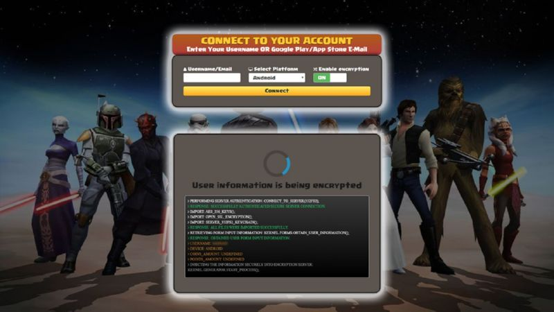 Star Wars Galaxy Of Heroes hack credits